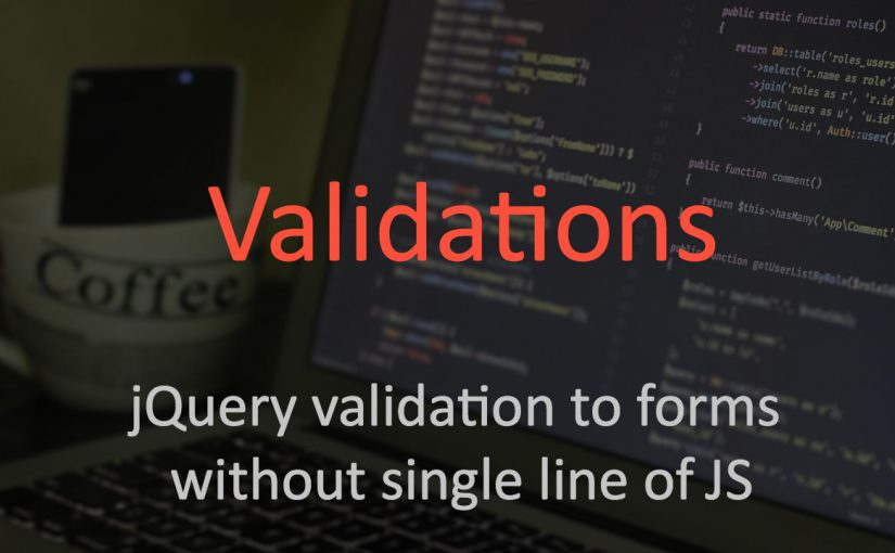 Javascript validations without writing JS code